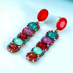 Bejeweled earrings